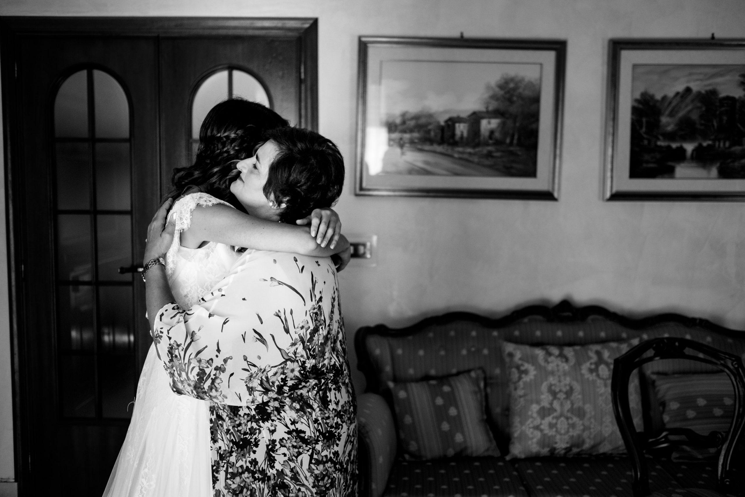 Bride Hug With Her Mother