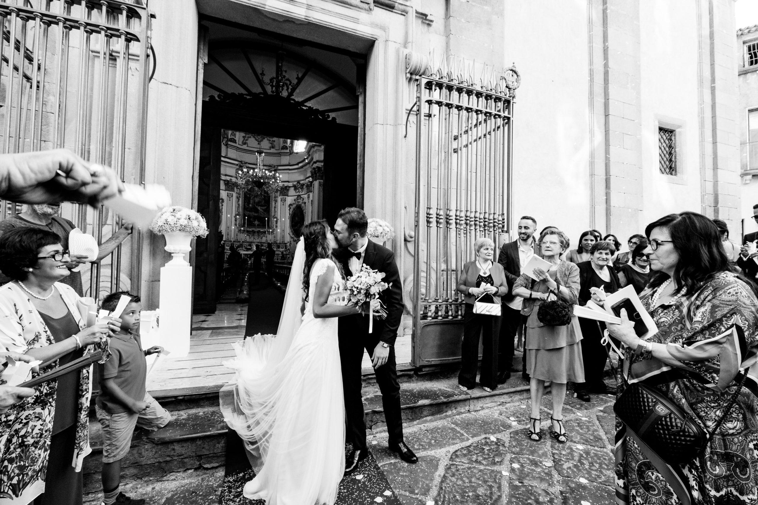Kiss At Church Exiting