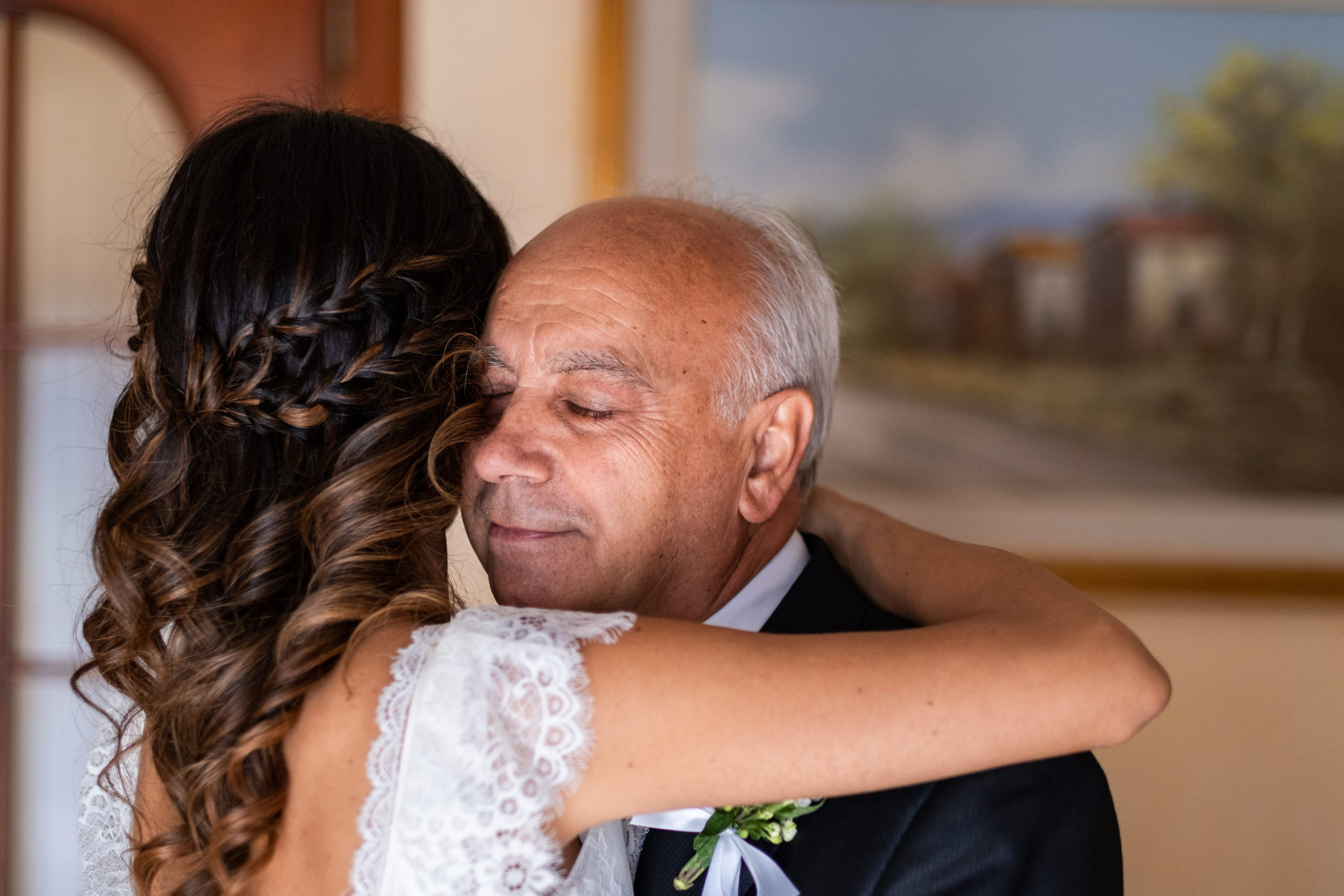 Bride Hug Dad