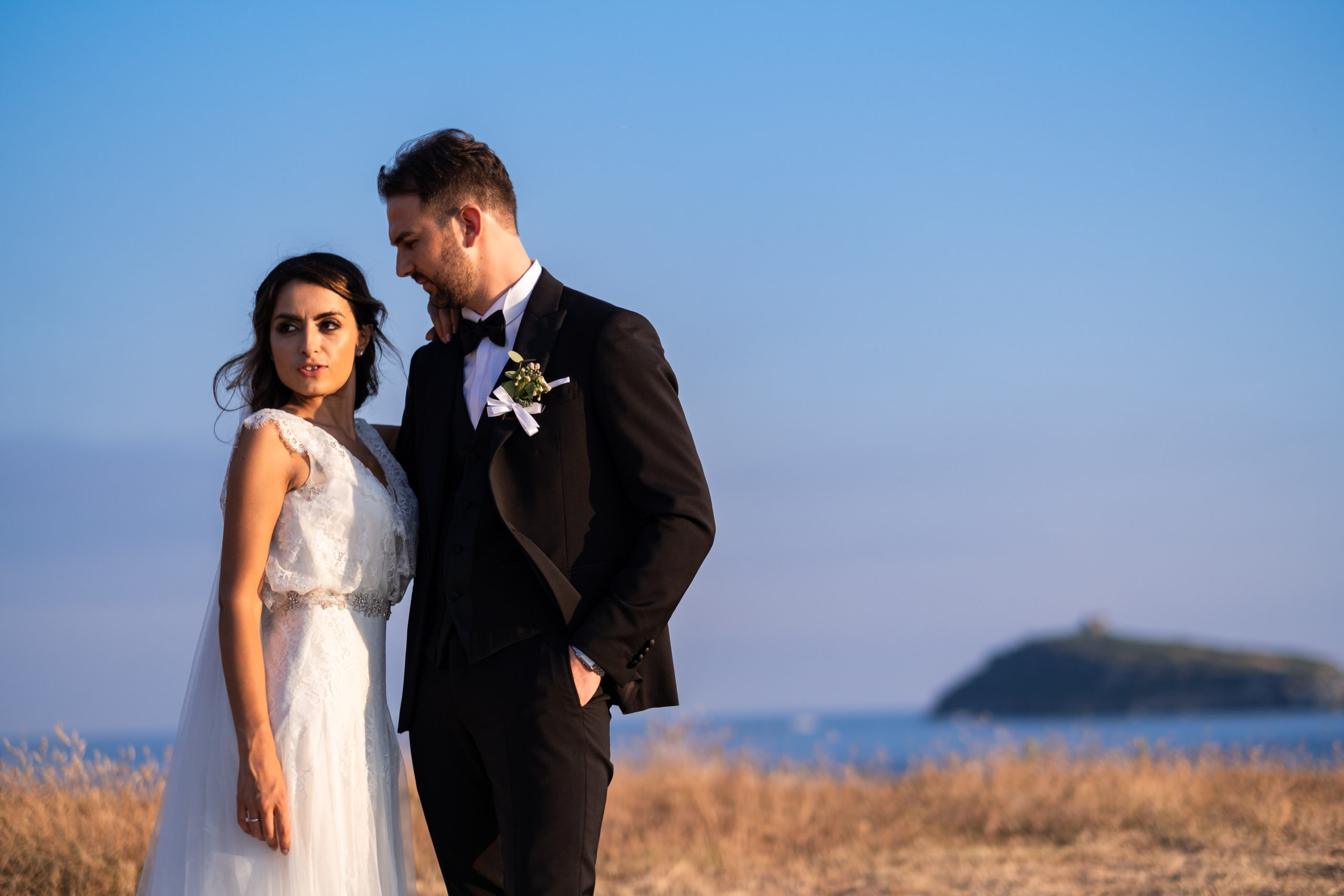 wedding in diamante calabria italy In Front of Isola di Cirella